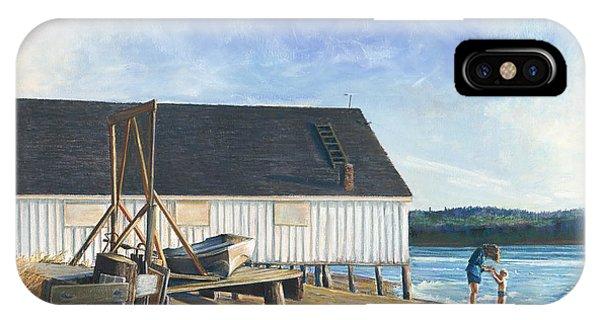 Boathouse At Lisabuela Beach IPhone Case