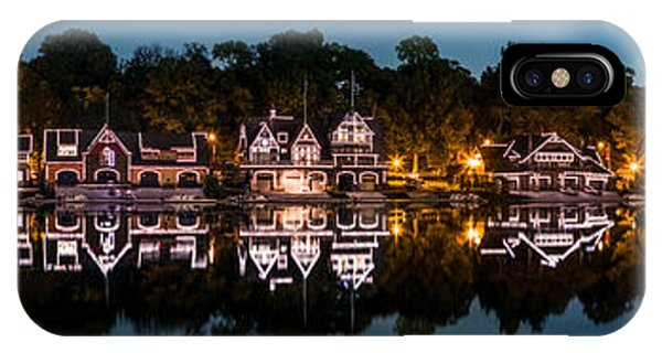 Boathouse Row Panorama IPhone Case