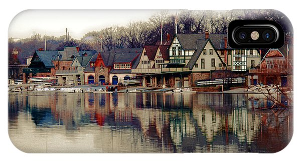 River iPhone Case - Boathouse Row Philadelphia by Tom Gari Gallery-Three-Photography