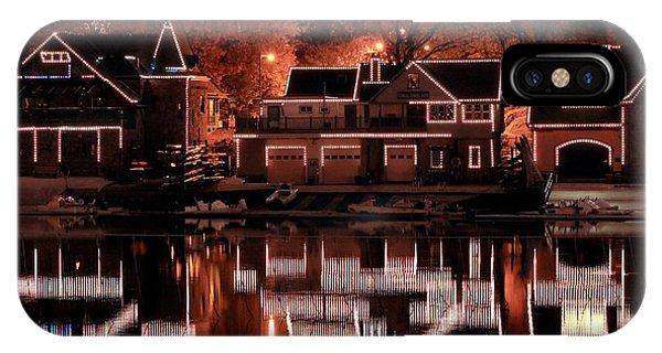 Boathouse Row Reflection IPhone Case