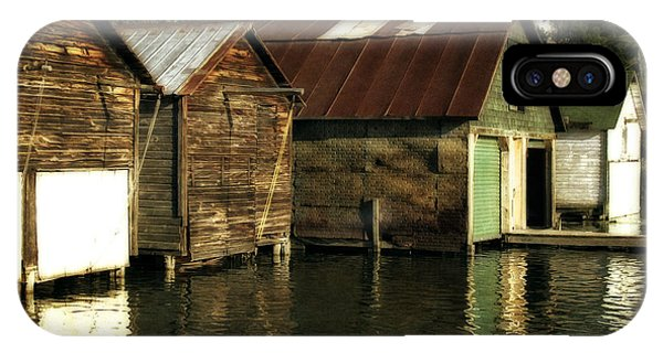Boathouses On The River IPhone Case