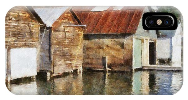 Boathouses On The Torch River Ll IPhone Case