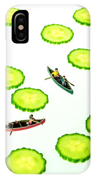 Boating Among Cucumber Slices Miniature Art IPhone Case