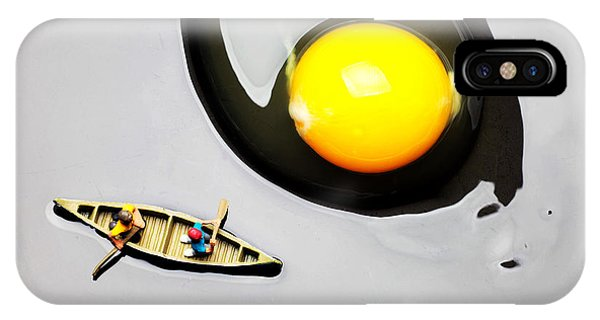 Boating Around Egg Little People On Food IPhone Case