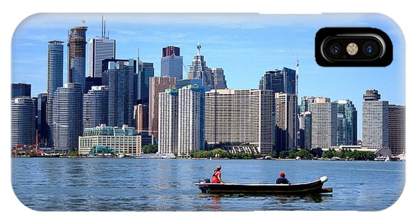 Boating By The Big City IPhone Case