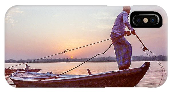 Boatman On The Ganges IPhone Case
