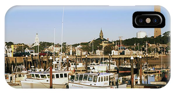 Cape Cod iPhone Case - Boats At A Harbor, Cape Cod, Barnstable by Panoramic Images