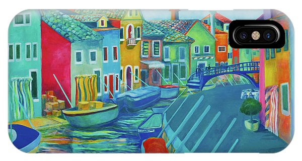 Boats At Burano IPhone Case