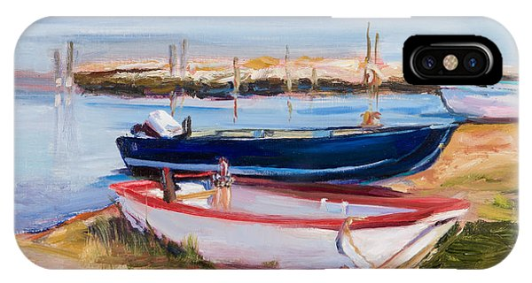 Boats At Lake Tresimeno Phone Case by Jane Woodward