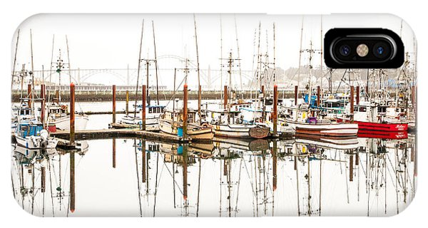 Boats At Newport Marina IPhone Case