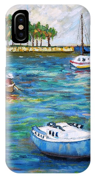 Boats At St Petersburg IPhone Case