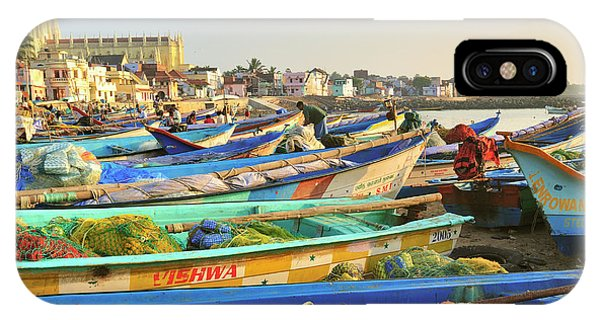 Roxbury iPhone Case - Boats Being Readied For Fishing by Steve Roxbury