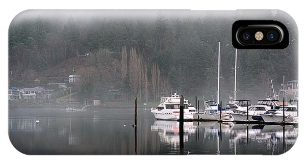 Boats Between Water And Fog IPhone Case