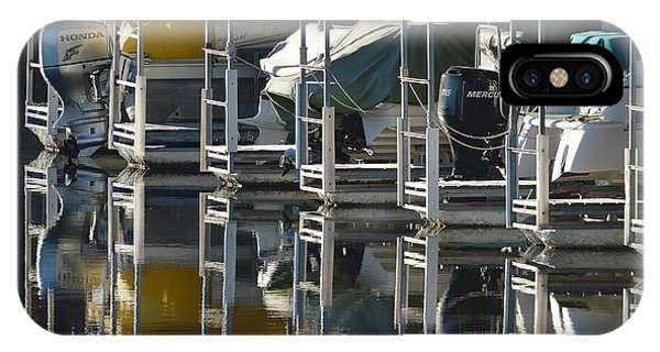 Boats Docked For The Winter IPhone Case