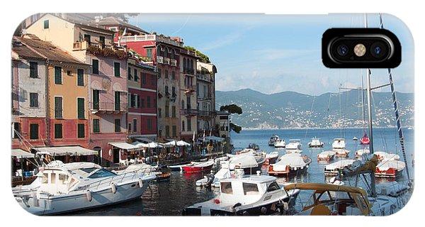 Boats In An Italian Harbor IPhone Case