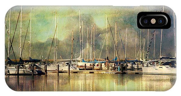 Boats In Harbour IPhone Case