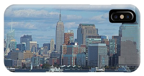 Battery D iPhone Case - Boats In New York City by Dan Sproul