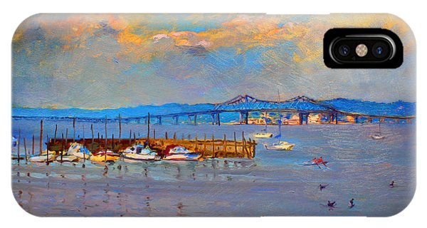 Duck iPhone Case - Boats In Piermont Harbor Ny by Ylli Haruni