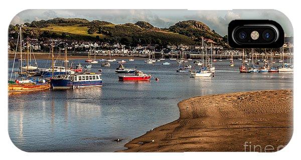 Schooner iPhone Case - Boats In The Harbour by Adrian Evans