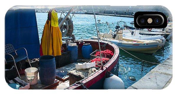 Boats In The Portovenere Harbor 2 IPhone Case