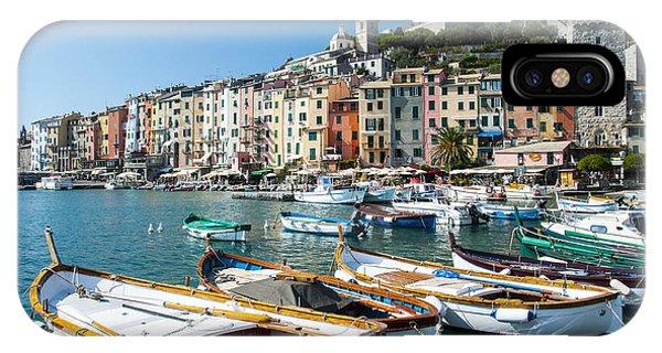 Boats In The Portovenere Harbor 3 IPhone Case