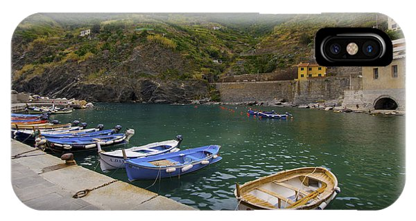 Boats In Vernazza IPhone Case