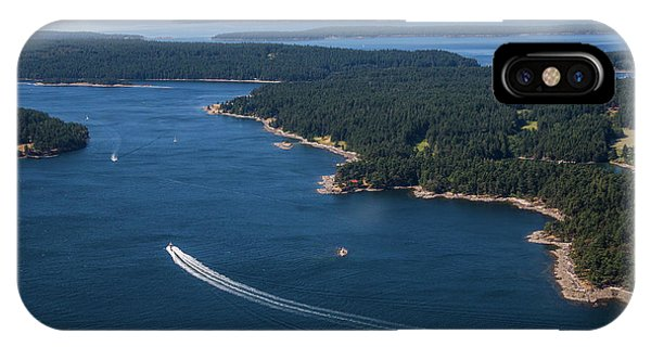Port Townsend iPhone Case - Boats Off The Coast Of Vancouver Island by Michael Hanson