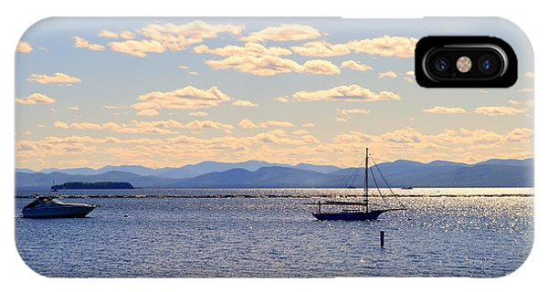 Boats On Lake Champlain Vermont IPhone Case