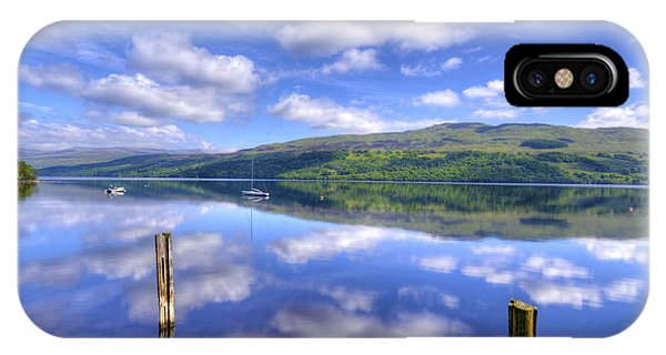 Boats On Loch Tay IPhone Case