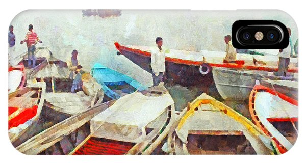 Boats On The Ganges River IPhone Case