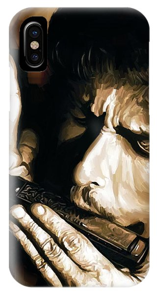 Bob Dylan iPhone Case - Bob Dylan Artwork 2 by Sheraz A