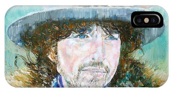 Bob Dylan Oil Portrait IPhone Case
