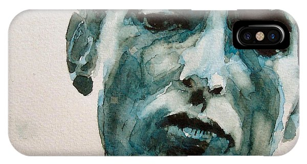 Singer iPhone Case - Bob Dylan by Paul Lovering