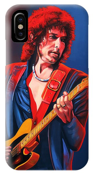Track iPhone Case - Bob Dylan Painting by Paul Meijering