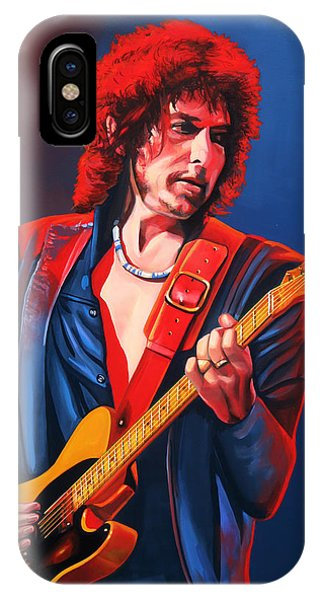 Popstar iPhone Case - Bob Dylan Painting by Paul Meijering
