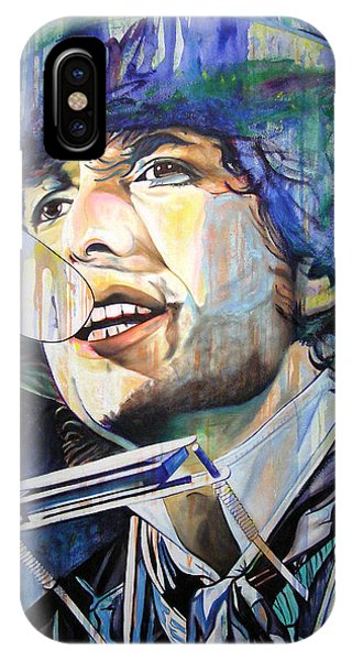 Bob Dylan iPhone Case - Bob Dylan Tangled Up In Blue by Joshua Morton