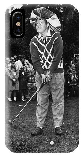 Bob Hope At Bing Crosby National Pro-am Golf Championship  Pebble Beach Circa 1955 IPhone Case