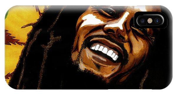 Bob Marley Rastafarian IPhone Case