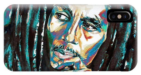 Bob Marley Watercolor Portrait.7 IPhone Case
