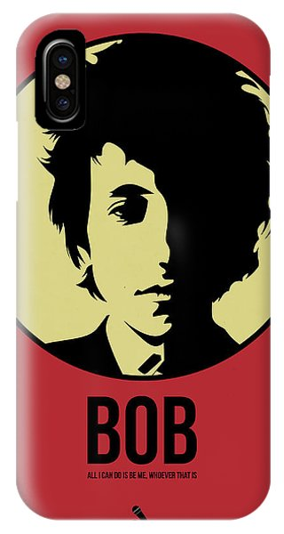 Bob Dylan iPhone Case - Bob Poster 1 by Naxart Studio