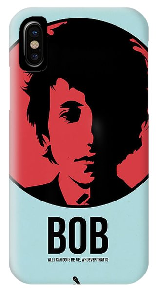 Bob Dylan iPhone Case - Bob Poster 2 by Naxart Studio