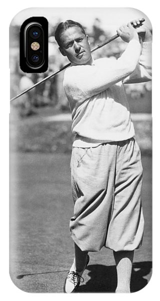Golf iPhone Case - Bobby Jones At Pebble Beach by Underwood Archives