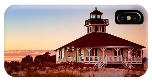 Navigation iPhone Case - Boca Grande Lighthouse - Florida by Nikolyn McDonald