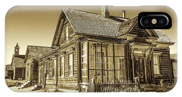IPhone Case featuring the photograph Bodie Ghost Town by Susan Leonard
