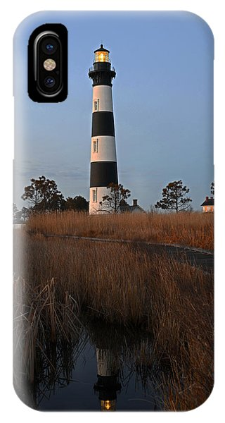 Bodie Island Light Reflection IPhone Case