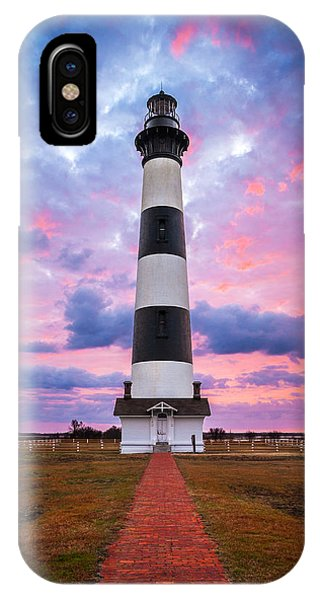 Bodie Island Lighthouse Sunrise Obx Outer Banks Nc - The Gatekeeper IPhone Case