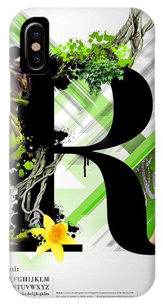 Layered iPhone Case - Bodoni R by Samuel Whitton