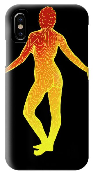 Body Contour Map Of Woman In Posterior View Phone Case by Dr Robin Williams/science Photo Library
