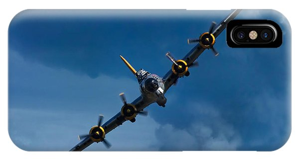 Airplanes iPhone Case - Boeing B-17 Flying Fortress by Adam Romanowicz