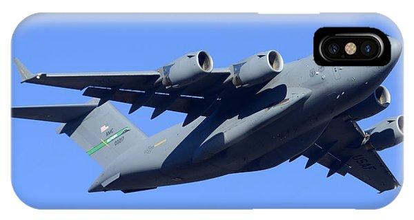 Boeing C-17a Globemaster 3 Phoenix Sky Harbor January 5 2015 IPhone Case